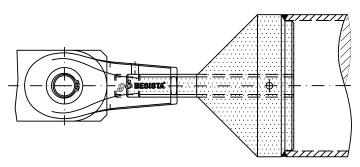 Conexión de barra de compresión de dos piezas como componente mecanizado sistema BESISTA