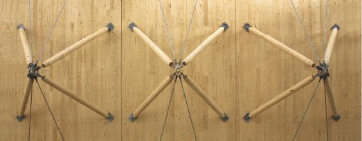Conexiones de barras de compresión y anclajes de barra sistema BESISTA para barras de compresión de madera