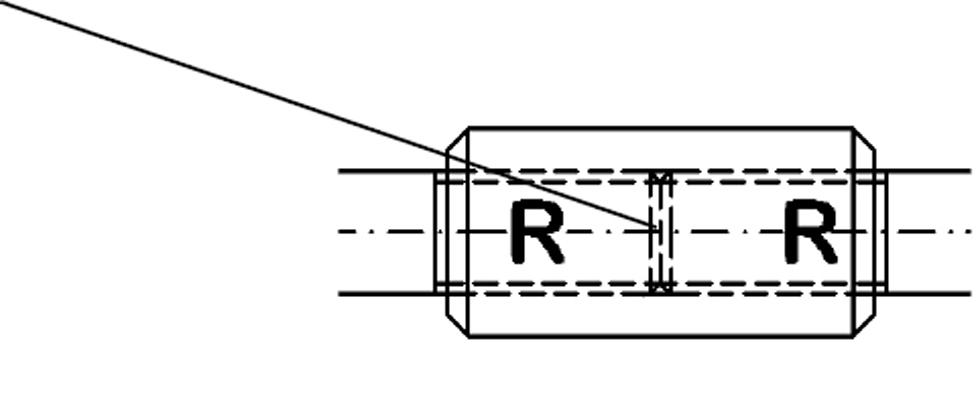 Manguito extensor para fijar la barra de tensión-tensor BESISTA sistemas de atirantado