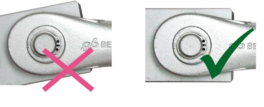 Ningunas tensiones en los anclajes de barras-cabezales por las placas de unión