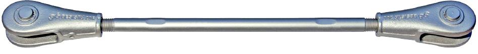 Sistema de barras de tensión BESISTA con anclajes de barras-cabezales sin manguitos de cobertura