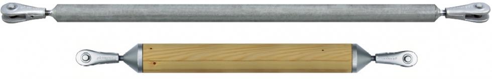 Sistemas de barras de compresión con barras de compresión de madera y acero sistema BESISTA