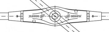 Kreuzanker mit Abdeckhülsen - System BESISTA