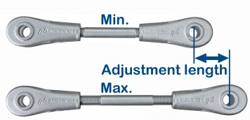BESISTA tension bars and compression rods allow for extremely large adjustment lengths
