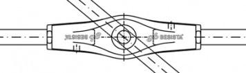 Ancrages de croisement sans douille couvrante - Système BESISTA