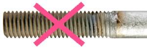 Filetages de barre brossés sont refusés par BESISTA