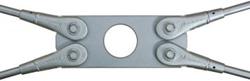 Plaque de croisement BESISTA pour angles extrêmement plats