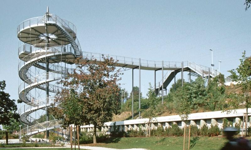 Zugankersysteme BESISTA zur Abhängung und Aussteifung - BuGa Weil am Rhein
