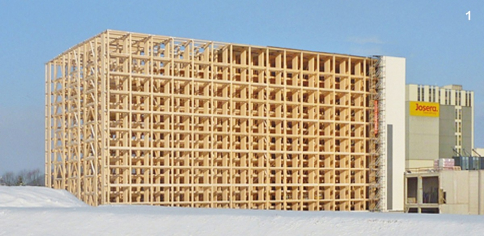 BESISTA tension members for stabilization in timberwork - High-rack storage Josera