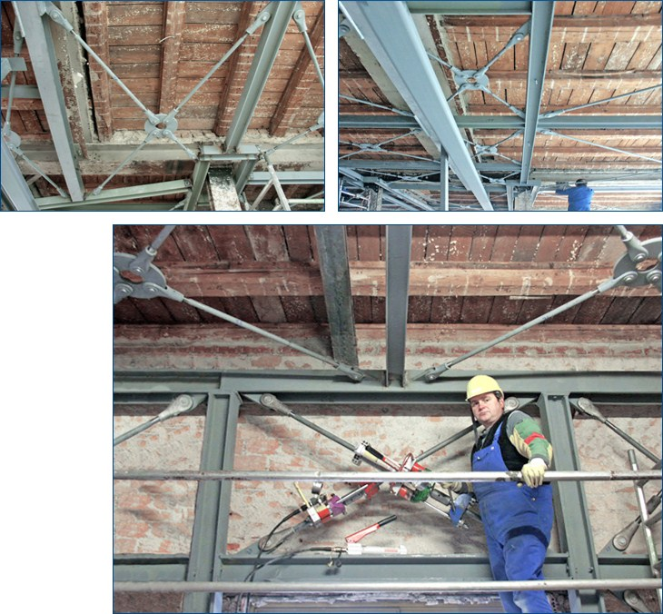 Refurbishments jahn sports hall stockach tension ties for Auskreuzung stahlbau