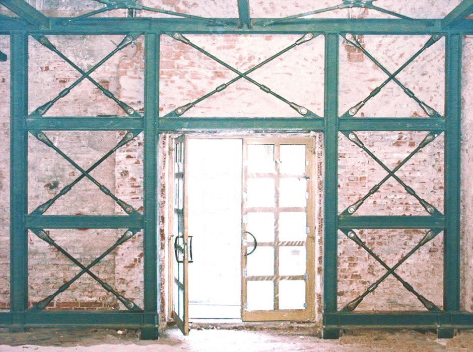 Tirants système BESISA pour la rénovation d\'un bâtiment historique