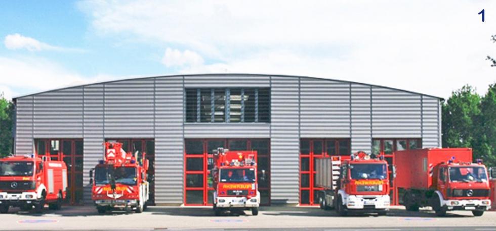 Sistema de barras de tensión y compresión BESISTA Central de Bomberos Mönchengladbach