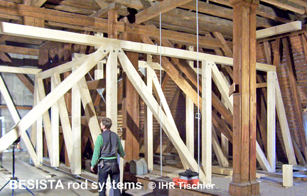 Tension bars system BESISTA for the refurbishment in timberwork and steelwork - 12