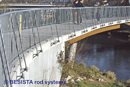 System BESISTA special anchors with tension bars for a bridge railing - 151