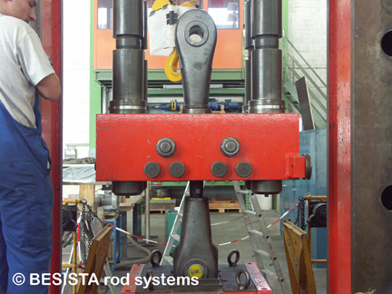 Tensile test on a rod anchor BESISTA M68 for certification EC, MPA Stuttgart - 229