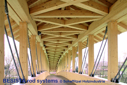 Tension tie systems with rod anchors from BESISTA for the bracing of the bridge - 360