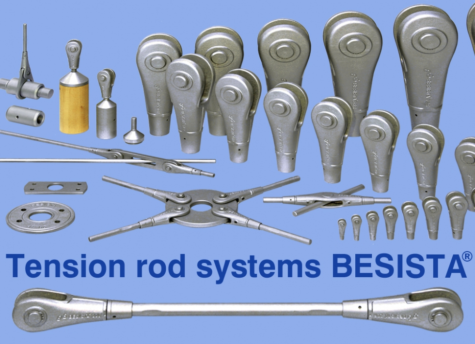 Tension rod systems and compression struts BESISTA - product line - 370