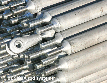 BESISTA compression rods made of machined rods - Wroclaw Municipal Stadium, Poland - 420