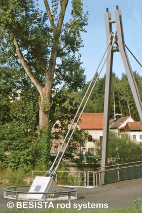Tension bars and rod anchors from BESISTA - pedestrian and cyclist's bridge, Passau - 429