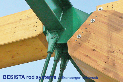 Connection of the BESISTA rod anchors/fork heads for the bridge in Koessen, Austria - 479
