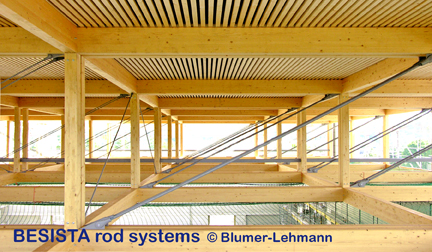 BESISTA tension bar systems made of tension bars and rod anchors for timberwork - 504