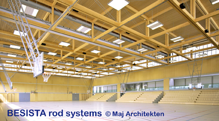 BESISTA tension bar systems for the sports hall in Frauenfeld, Switzerland - 508