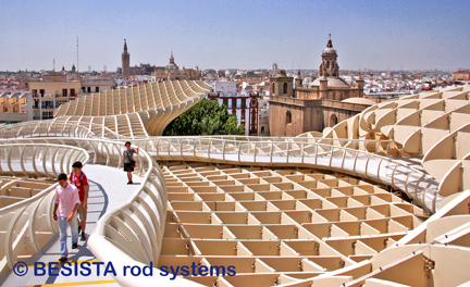 Tension tie with tension rods system BESISTA for Metropol Parasol Sevilla, Spain - 551