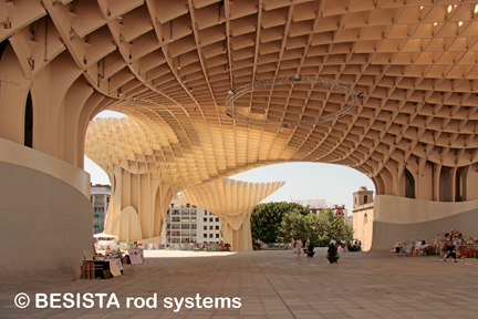 Rod systems with rod anchors from BESISTA for Metropol Parasol Sevilla, Spain - 552
