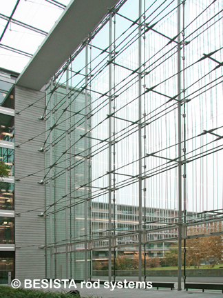 Rod systems BESISTA in facade engineering for PWC Parkside Zurich, Switzerland - 574