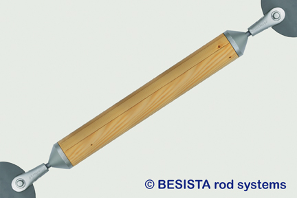Compression rod system BESISTA made of timber with compression rod connections - 579