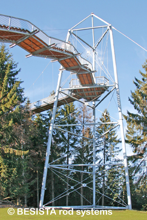 Bracings with tension rods/tension bars system BESISTA for the Skywalk Scheidegg - 584