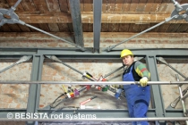Tension ties with rod anchors and pre-tensioning system BVS-230 from BESISTA - 176