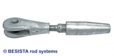BESISTA rod anchor/fork head with reduction rod for rope connections - 182