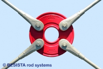 System BESISTA circular disc with markings and tension bars for wind-bracings - 269