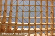 Tension bars with rod anchors from BESISTA for Metropol Parasol Sevilla, Spain - 555