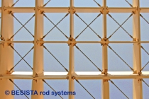 Tension rods with rod anchors for Metropol Parasol Sevilla, Spain, system BESISTA - 557
