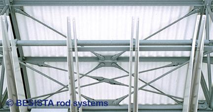 Système d'haubanage BESISTA pour le contreventement dans les constructions en acier, verre et façades - 09