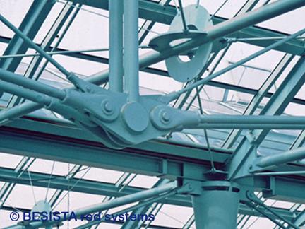Systèmes de tension BESISTA, détail de la construction sous-tendue - Hôtel de ville, Galerie Essen - 61