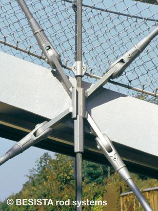 Ancrages et tirants système BESISTA pour le contreventement, BuGa, Weil am Rhein - 70