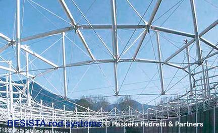 Systèmes de tirants de BESISTA tirants et ancrages forment la structure spatiale - 122