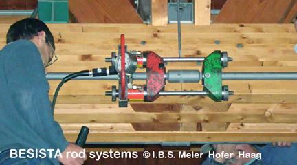 Système de précontrainte BESISTA BVS-230 pour précontraindre les barres tendues d'un gymnase - 136