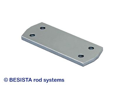 Plaque de croisement avec tirants BESISTA pour contreventements avec des angles plats - 251