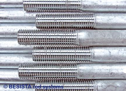 Filetages repassés avec une couche de zinc - une spécialité unique de BESISTA - 282