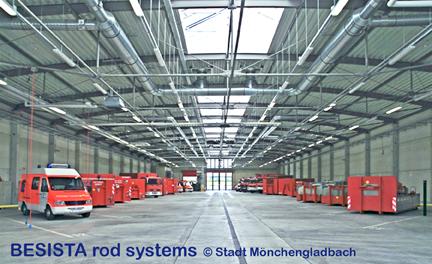 Tirants et barres de compression système BESISTA pour le corps de pompiers, Moenchengladbach - 305