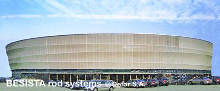 Barres de compression BESISTA en acier pour la Stade municipal de Wroclaw, Pologne - 422