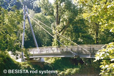 Haubanages avec tirants de BESISTA - Pont aux piétons et cyclistes, Passau - 430