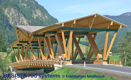 Barres d'ancrages/chapes de BESISTA portent le pont de Kössen, Autriche - 481