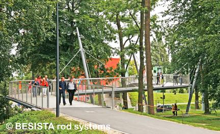 Haubanages avec le système de tirants BESISTA pour le pont LGA, Neu-Ulm - 541