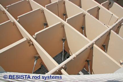 Barres tendues avec ancrages de BESISTA pour Metropol Parasol, Séville, Espagne - 550