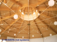 Barres tendues et ancrages de BESISTA pour une construction sous-tendue dans la construction en bois - 265